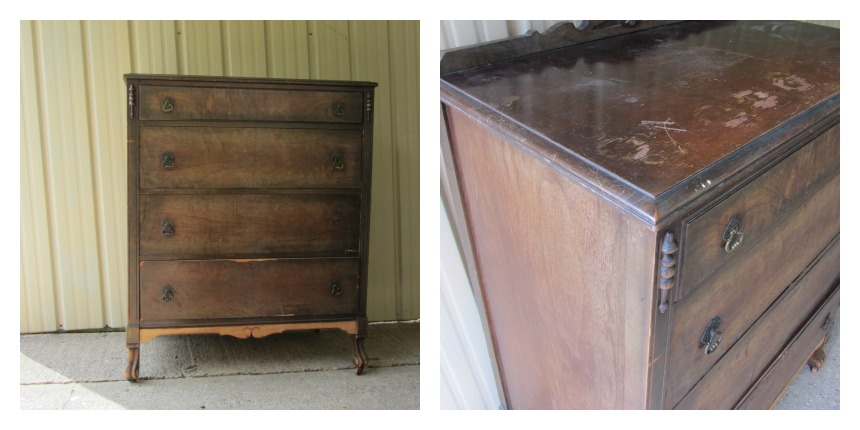 Antique Dresser before picture