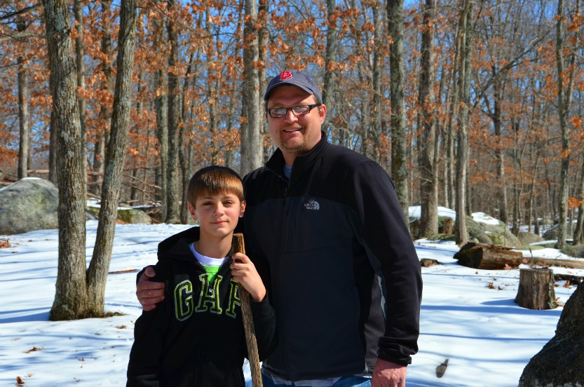 Father and son at Elephant Rock