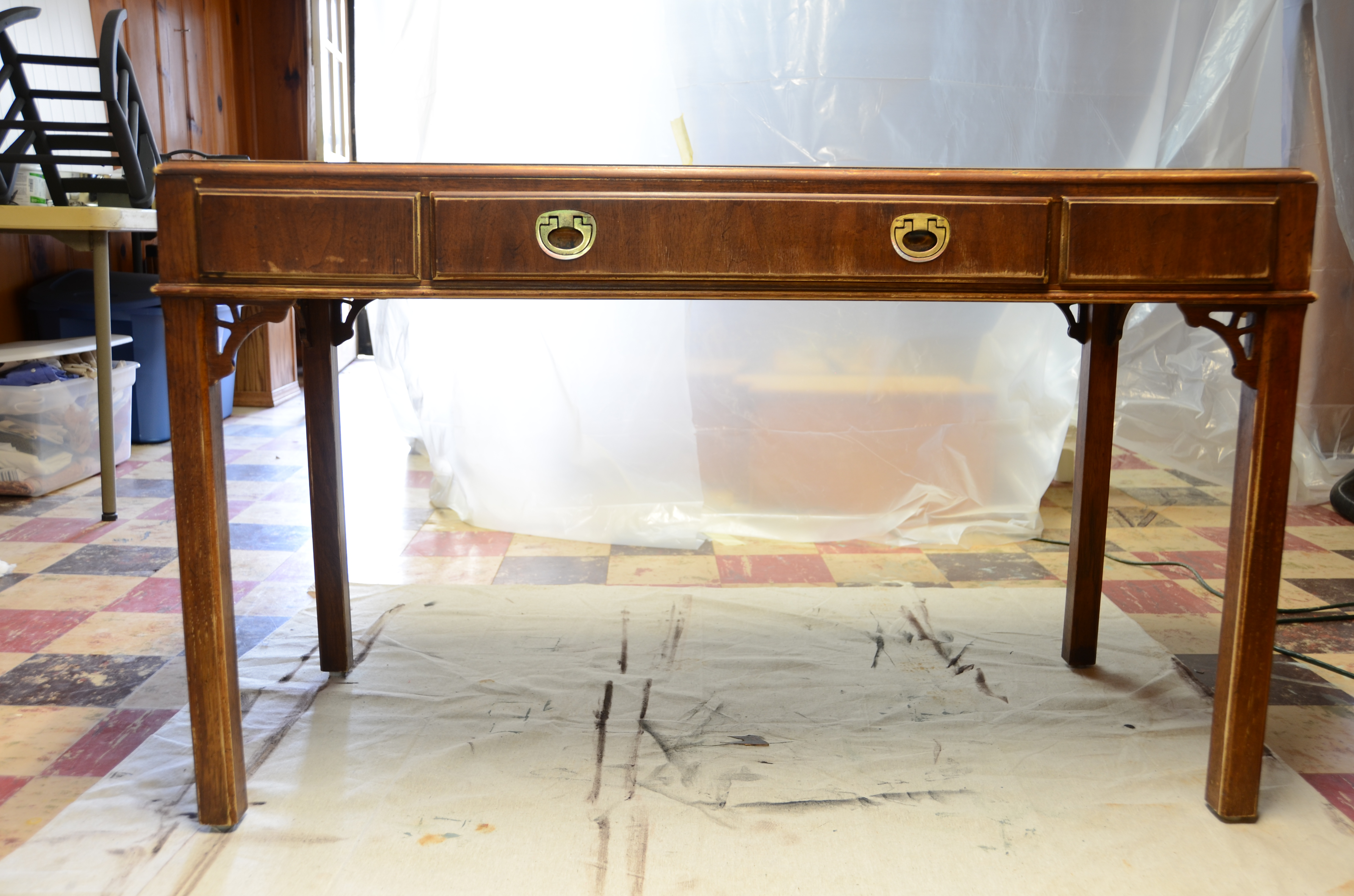 Drexel Desk Before Makeover Picture