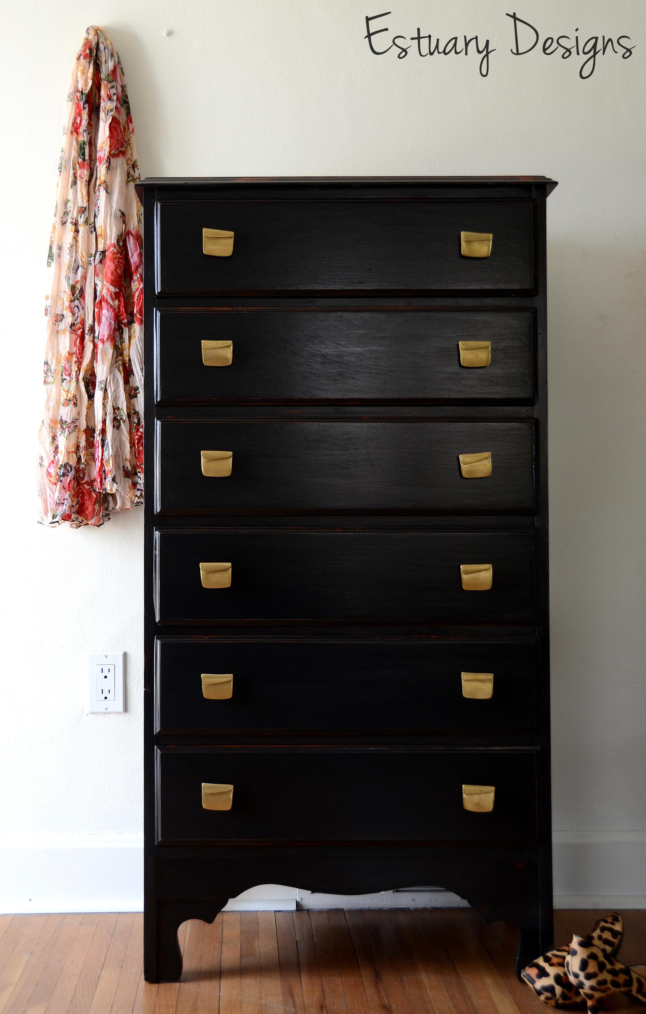dresser black chest au boori drawer white