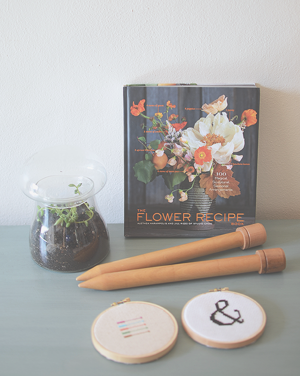 Flower Recipe book and my new terrarium