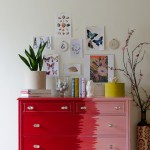 Aiyana furniture makeover after red to pink ombre dresser for a nursery