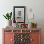 Frankie full- salmon painted sideboard
