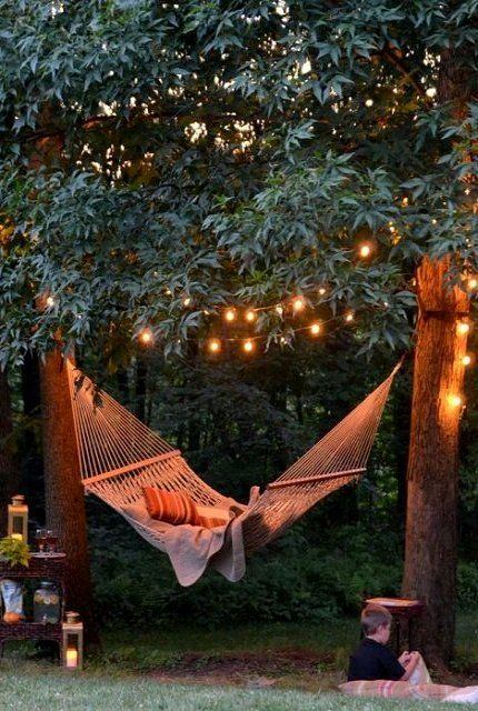 Add lights above Hammock